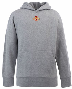 Iowa State YOUTH Boys Signature Hooded Sweatshirt (Color: Gray)