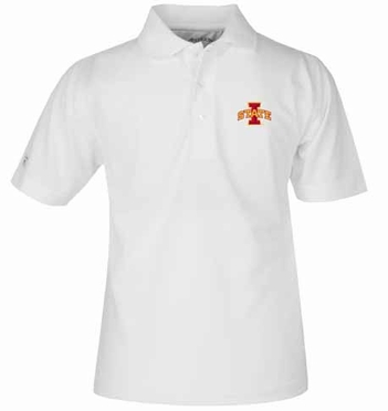 Iowa State YOUTH Unisex Pique Polo Shirt (Color: White)