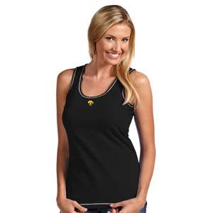 Iowa Womens Sport Tank Top (Team Color: Black) - Medium