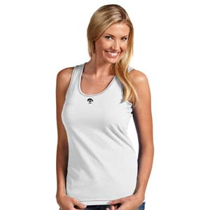 Iowa Womens Sport Tank Top (Color: White) - Large