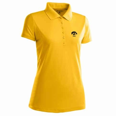 Iowa Womens Pique Xtra Lite Polo Shirt (Alternate Color: Gold)