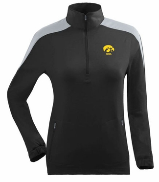 Iowa Womens Succeed 1/4 Zip Performance Pullover (Team Color: Black)