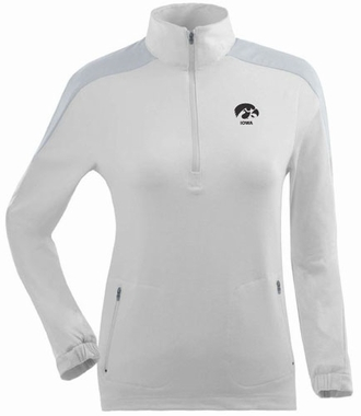 Iowa Womens Succeed 1/4 Zip Performance Pullover (Color: White)