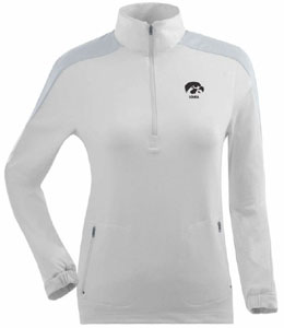 Iowa Womens Succeed 1/4 Zip Performance Pullover (Color: White) - Medium
