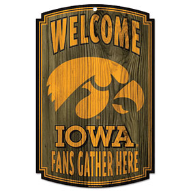 Iowa Wood Sign
