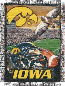 Iowa Woven Tapestry Throw Blanket