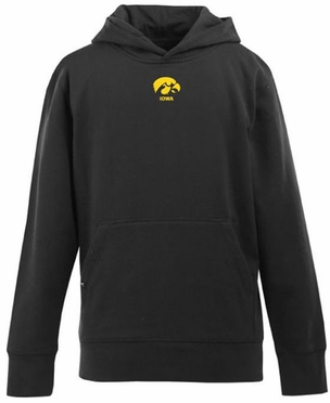 Iowa YOUTH Boys Signature Hooded Sweatshirt (Team Color: Black)