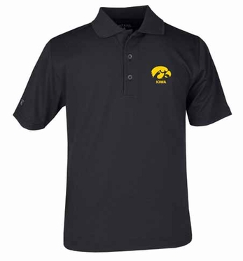 Iowa YOUTH Unisex Pique Polo Shirt (Team Color: Black)