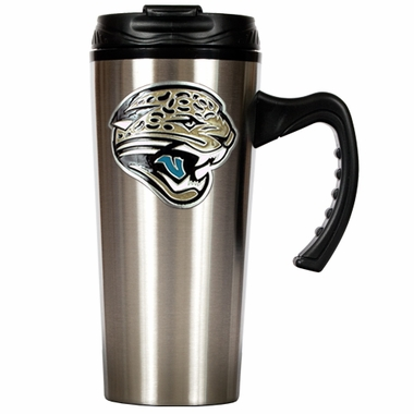 Jacksonville Jaguars 16 oz. Thermo Travel Tumbler (Slim)