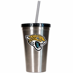 Jacksonville Jaguars 16oz Stainless Steel Insulated Tumbler with Straw