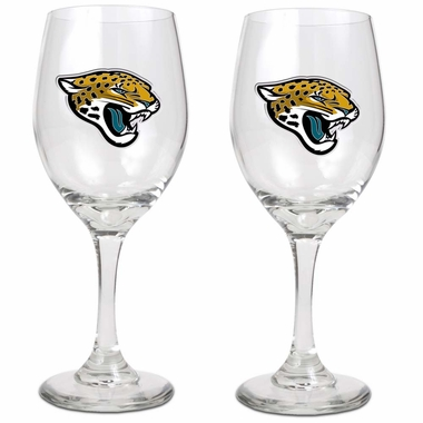 Jacksonville Jaguars 2 Piece Wine Glass Set