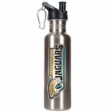 Jacksonville Jaguars 26oz Stainless Steel Water Bottle (Silver)