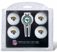 Jacksonville Jaguars 4 Ball and Tool Gift Set