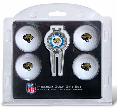 Jacksonville Jaguars 4 Ball and Divot Tool Set