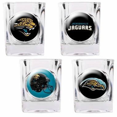 Jacksonville Jaguars 4 Piece Assorted Shot Glass Set