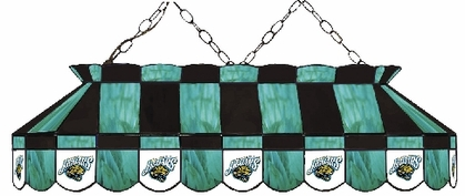 Jacksonville Jaguars 40 Inch Rectangular Stained Glass Billiard Light