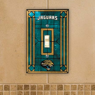 Jacksonville Jaguars Art Glass Lightswitch Cover