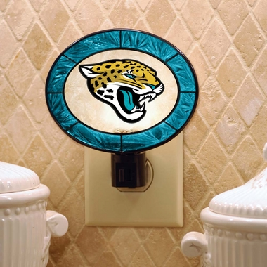 Jacksonville Jaguars Art Glass Night Light