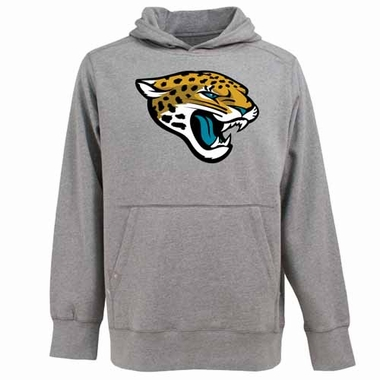 Jacksonville Jaguars Big Logo Mens Signature Hooded Sweatshirt (Color: Gray)