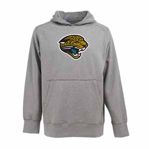 Jacksonville Jaguars Big Logo Mens Signature Hooded Sweatshirt (Color: Gray) - XXX-Large