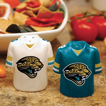 Jacksonville Jaguars Ceramic Jersey Salt and Pepper Shakers