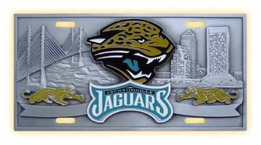 Jacksonville Jaguars Deluxe Collector's License Plate