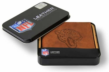 Jacksonville Jaguars Embossed Leather Bifold Wallet