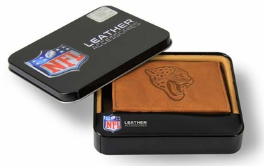 Jacksonville Jaguars Embossed Leather Trifold Wallet
