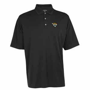 Jacksonville Jaguars Mens Exceed Polo (Team Color: Black) - Large