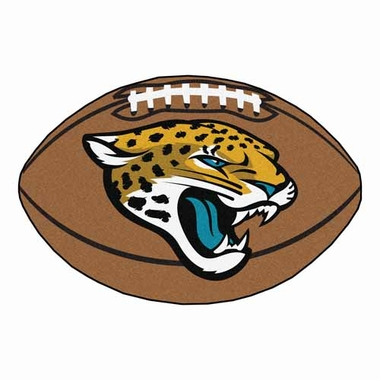 Jacksonville Jaguars Football Shaped Rug