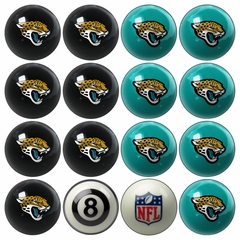 Jacksonville Jaguars Home and Away Complete Billiard Ball Set