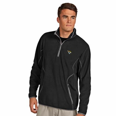 Jacksonville Jaguars Mens Ice Polar Fleece Pullover (Color: Black)