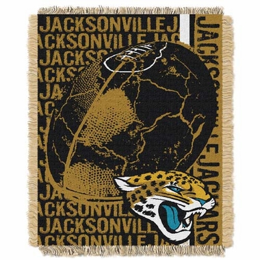 Jacksonville Jaguars Jacquard Woven Throw Blanket