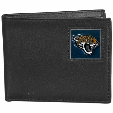 Jacksonville Jaguars Leather Bifold Wallet (F)