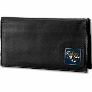 Jacksonville Jaguars Leather Checkbook Cover (F)