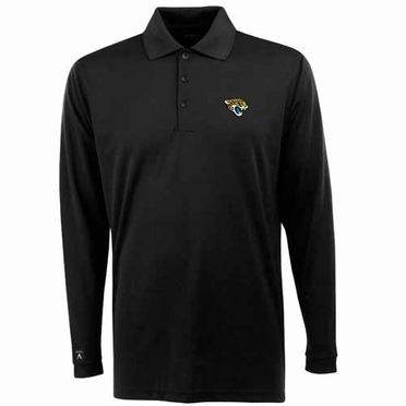 Jacksonville Jaguars Mens Long Sleeve Polo Shirt (Team Color: Black)