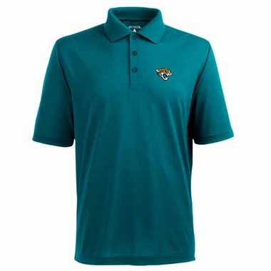 Jacksonville Jaguars Mens Pique Xtra Lite Polo Shirt (Color: Teal)