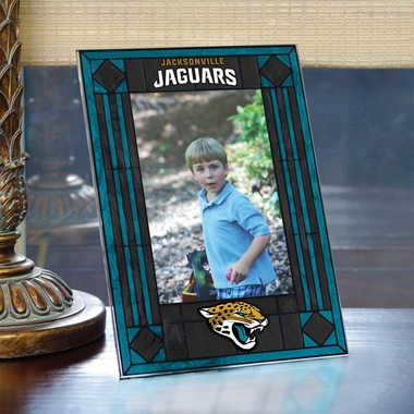 Jacksonville Jaguars Portrait Art Glass Picture Frame