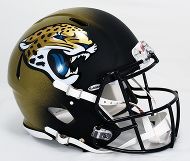 Jacksonville Jaguars Riddell Full Size Authentic Revolution Helmet