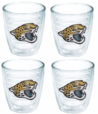 Jacksonville Jaguars Set of FOUR 12 oz. Tervis Tumblers