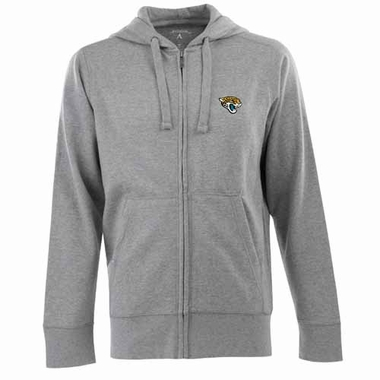 Jacksonville Jaguars Mens Signature Full Zip Hooded Sweatshirt (Color: Gray)