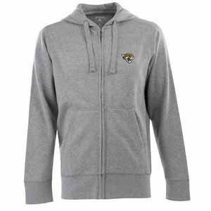 Jacksonville Jaguars Mens Signature Full Zip Hooded Sweatshirt (Color: Gray) - Small