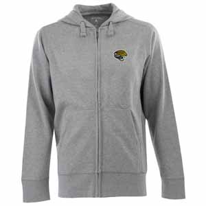 Jacksonville Jaguars Mens Signature Full Zip Hooded Sweatshirt (Color: Gray) - XXX-Large