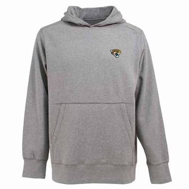 Jacksonville Jaguars Mens Signature Hooded Sweatshirt (Color: Gray)