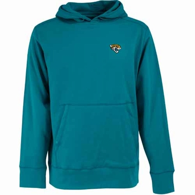 Jacksonville Jaguars Mens Signature Hooded Sweatshirt (Color: Teal)