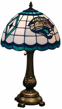 Jacksonville Jaguars Stained Glass Table Lamp