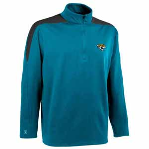 Jacksonville Jaguars Mens Succeed 1/4 Zip Performance Pullover (Team Color: Teal) - Medium