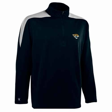 Jacksonville Jaguars Mens Succeed 1/4 Zip Performance Pullover (Color: Smoke)