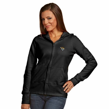 Jacksonville Jaguars Womens Zip Front Hoody Sweatshirt (Alternate Color: Black)