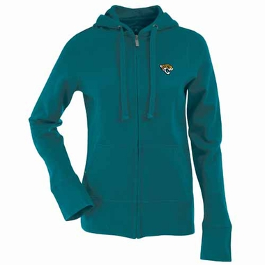 Jacksonville Jaguars Womens Zip Front Hoody Sweatshirt (Team Color: Teal)